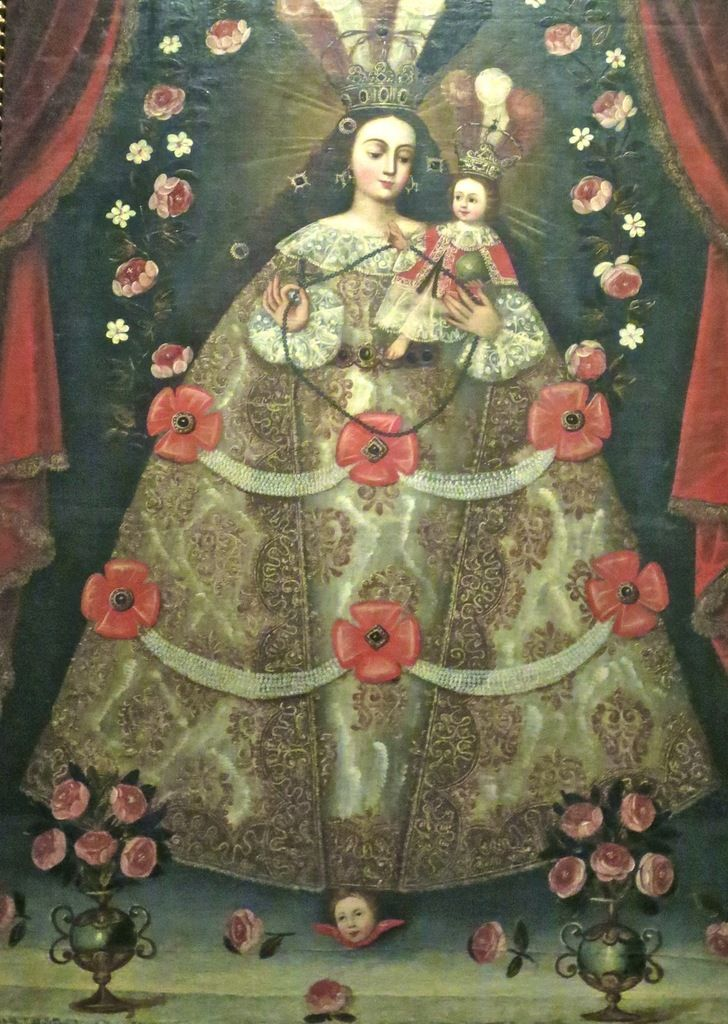 Elegant CUZCO SCHOOL Blessed Mother Pinterest Model - New religious paintings Pictures