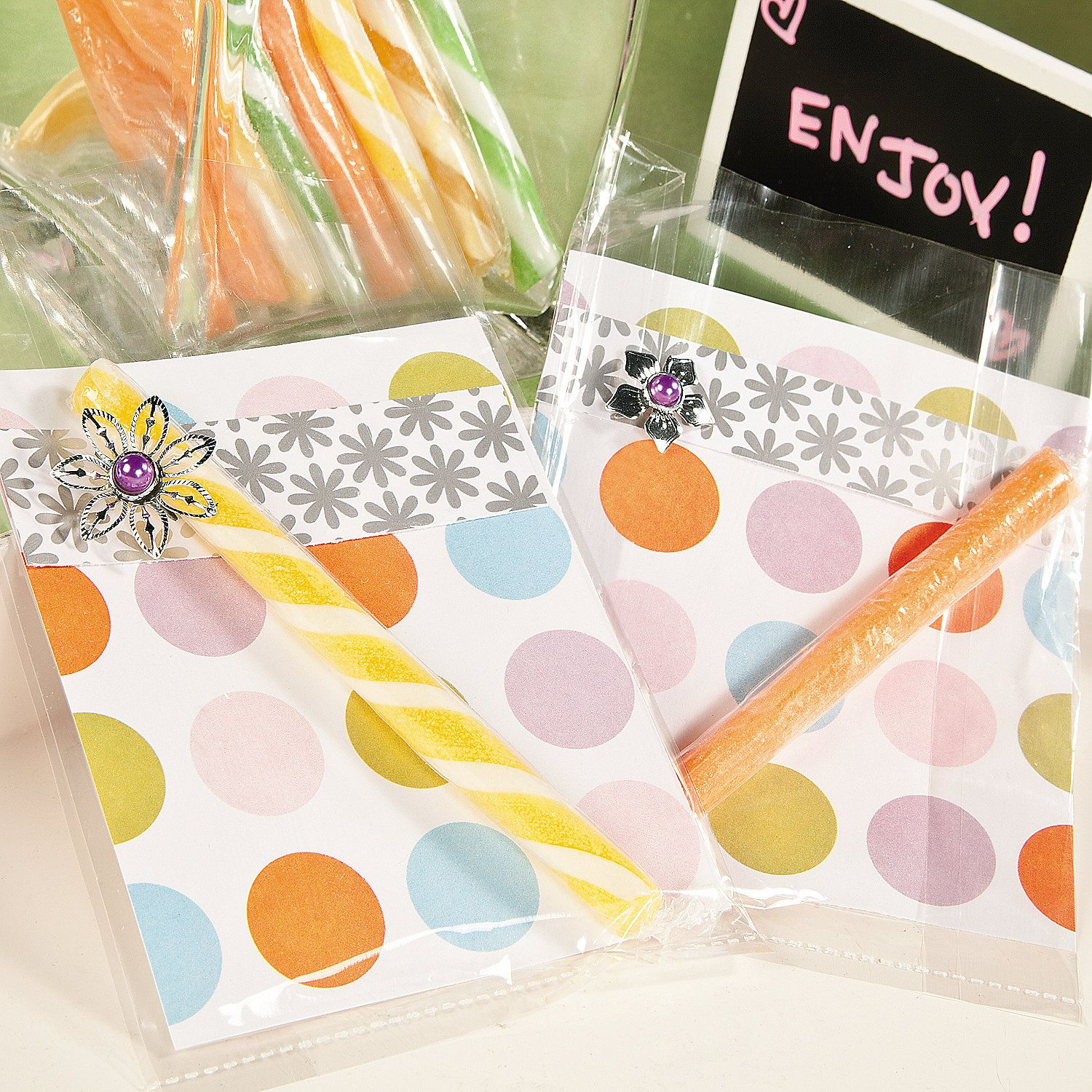 Decorated Plastic Candy Bags Orientaltrading Com Favors