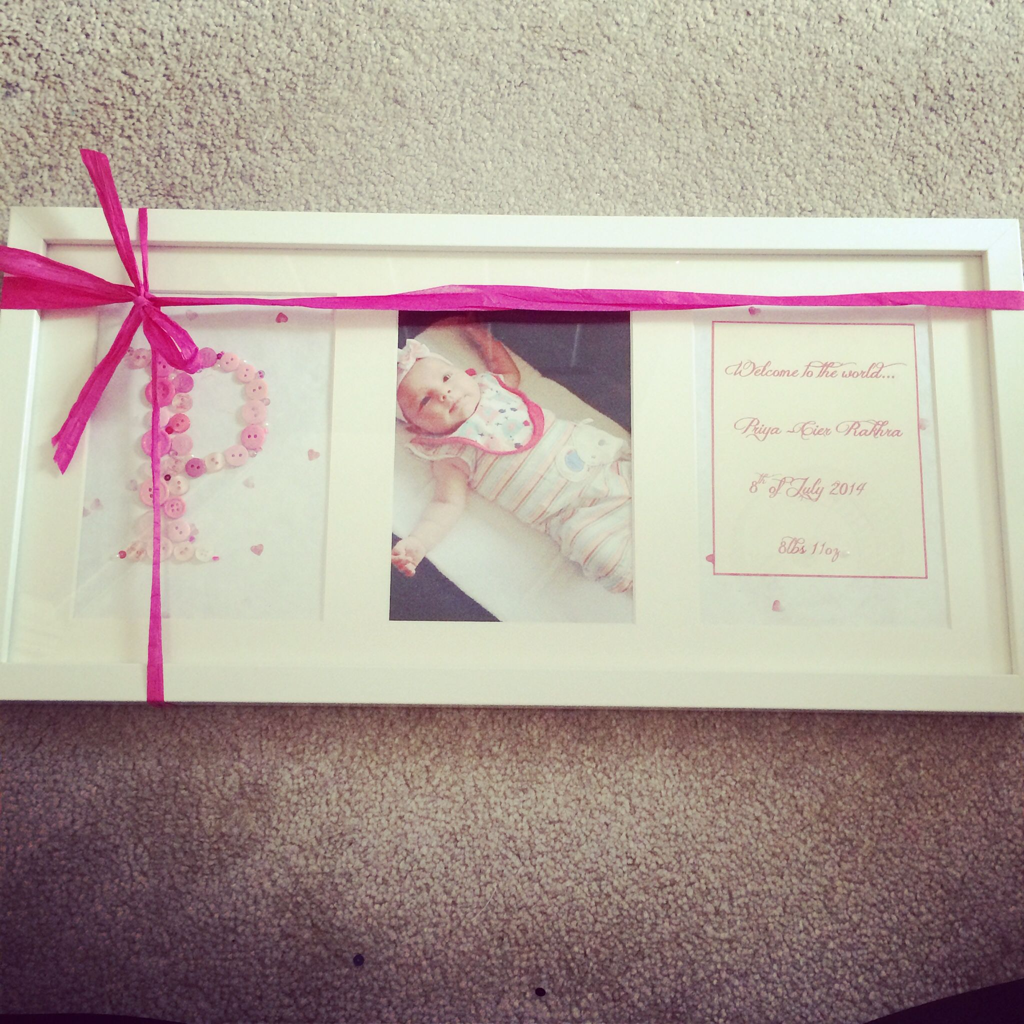 Personalised Baby Frame available in any colour.   Creations_for_occasions@outlook.com   £35 <3