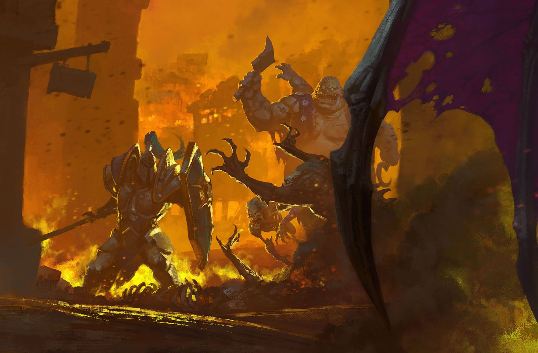 Artstation Gameinformer Cover Warcraft 3 Reforged Bayard Wu