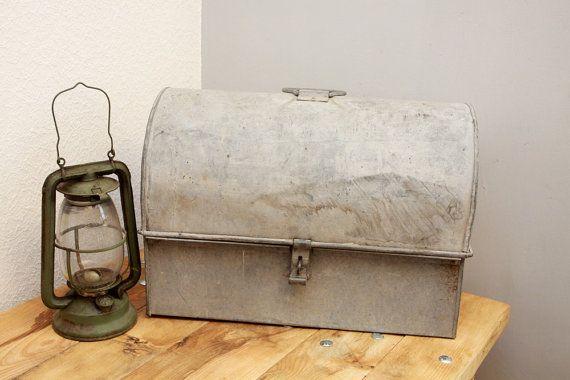 Box Xxl Antique Metal Storage Box Industrial Storage Kiste