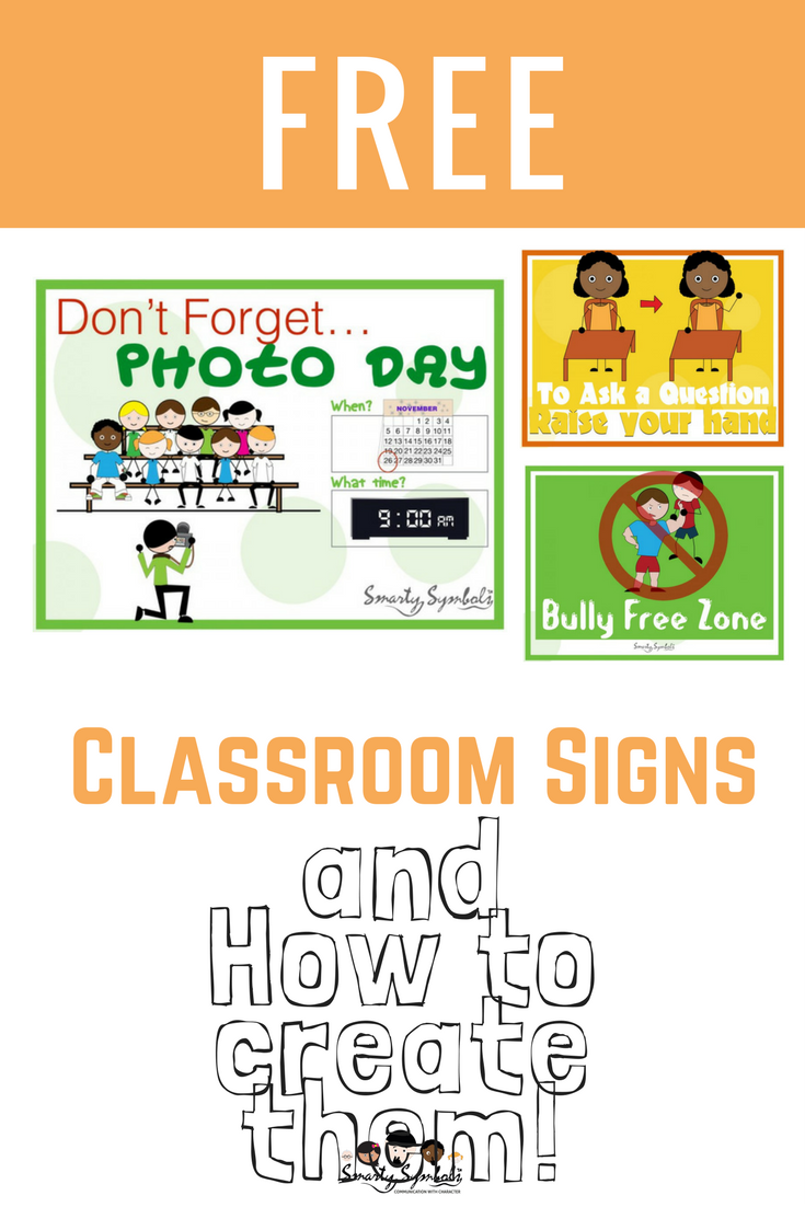 Free downloads of classroom signs smarty symbols visual free downloads of classroom signs smarty symbols biocorpaavc Choice Image