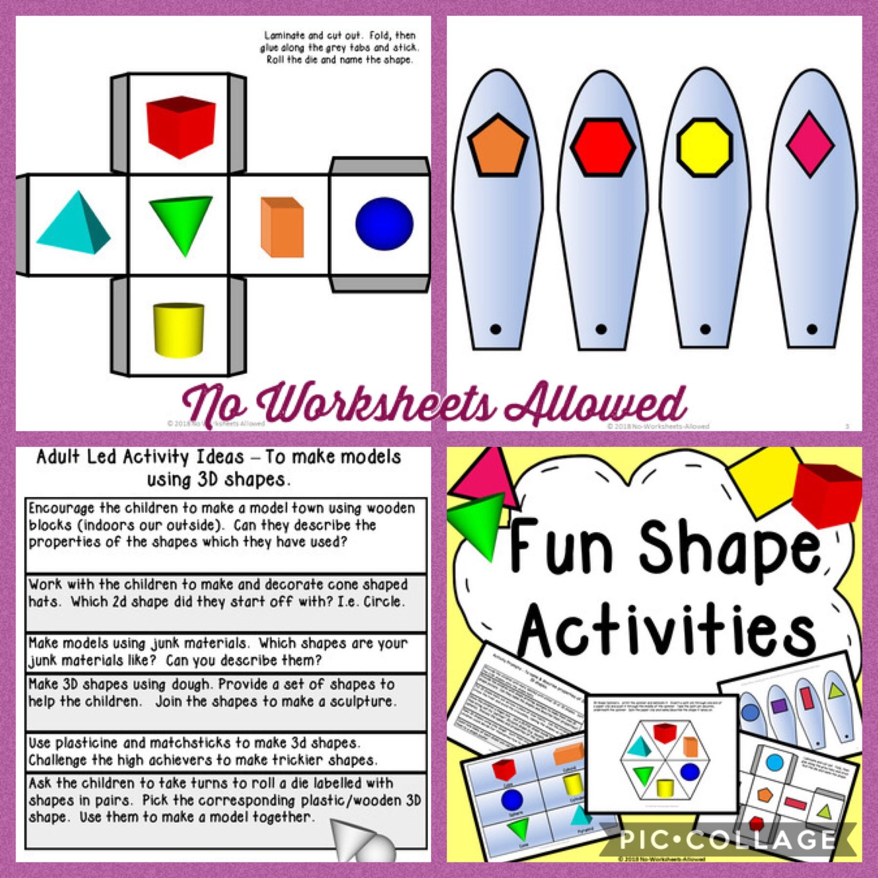 Kindergarten 2d And 3d Shape Activities And Resources