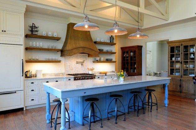 22 Industrial Kitchen Island Designs For Retro Look of the Kitchen ...