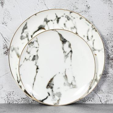 Gilded Marble Plates Marble Ceramics Marble Plates Plates