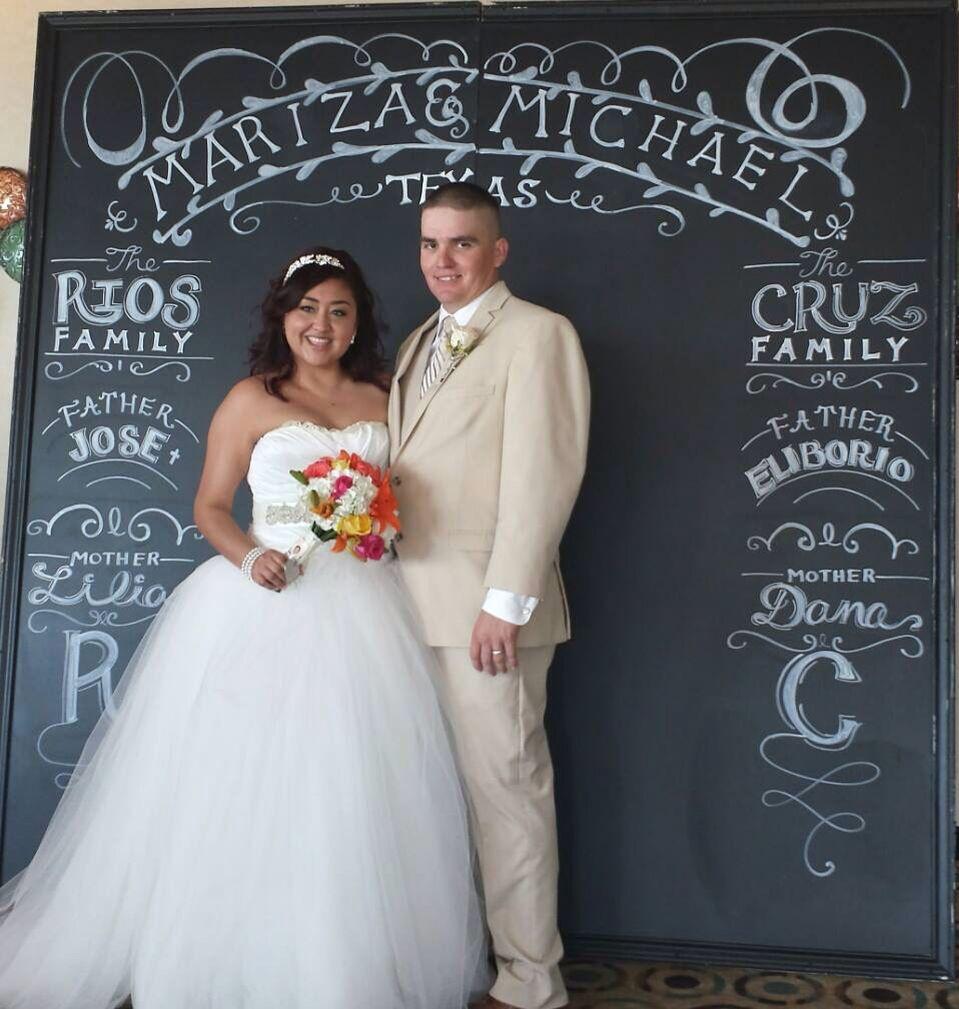 Wedding Chalkboard Ideas: Chalkboard Chalk Art Wedding Backdrop Wedding Chalkboard
