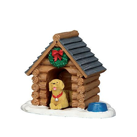 lemax village collection christmas village accessory log cabin dog house