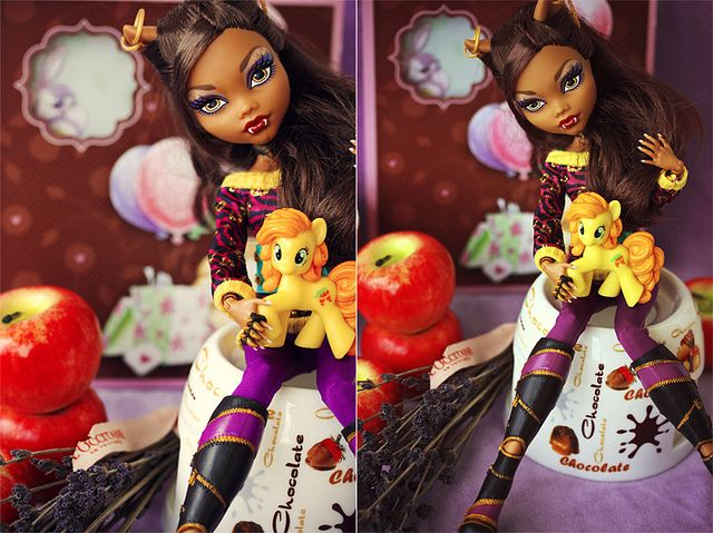 Chocolate + Lavender + apple + Clawdeen by Puno3000, via Flickr