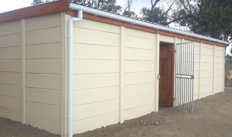 Precast Walls ,Garages And Storerooms. Palisade Fencing