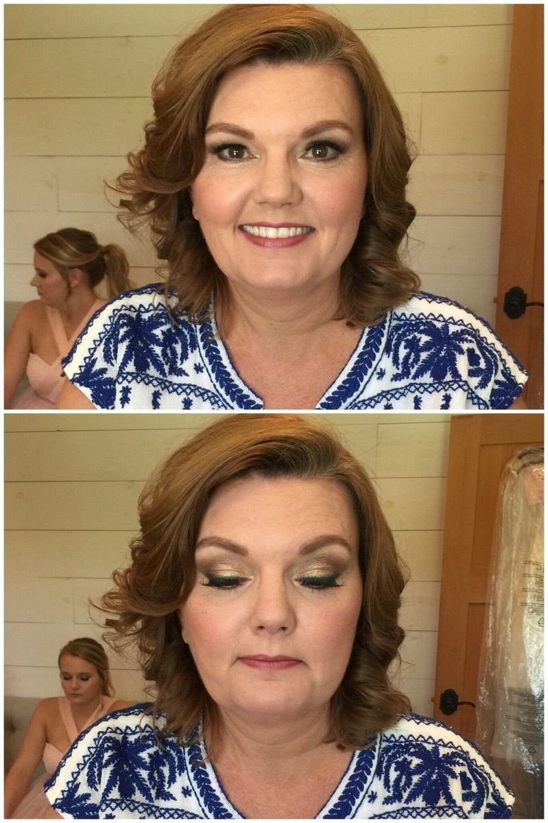 Mother of the bride makeup ideas. A gold lid combined with