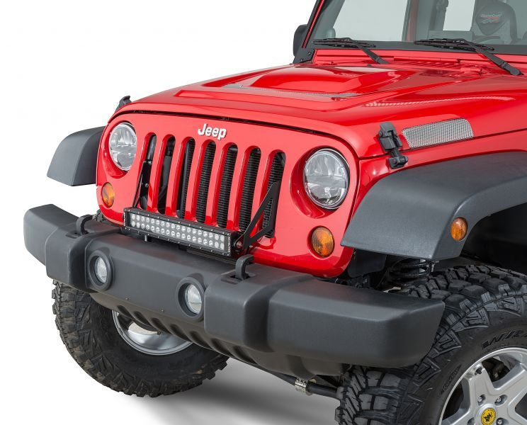 Kc Hilites Grill Mount C20 Led Bar Bracket Kit Jeep Wrangler