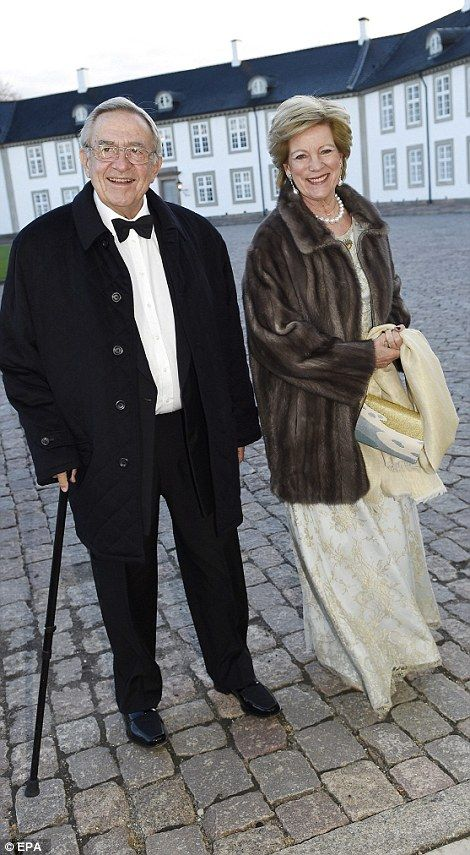 Making an entrance: King Constantine II and Queen Anne-Marie of Greece (left) and Princess...