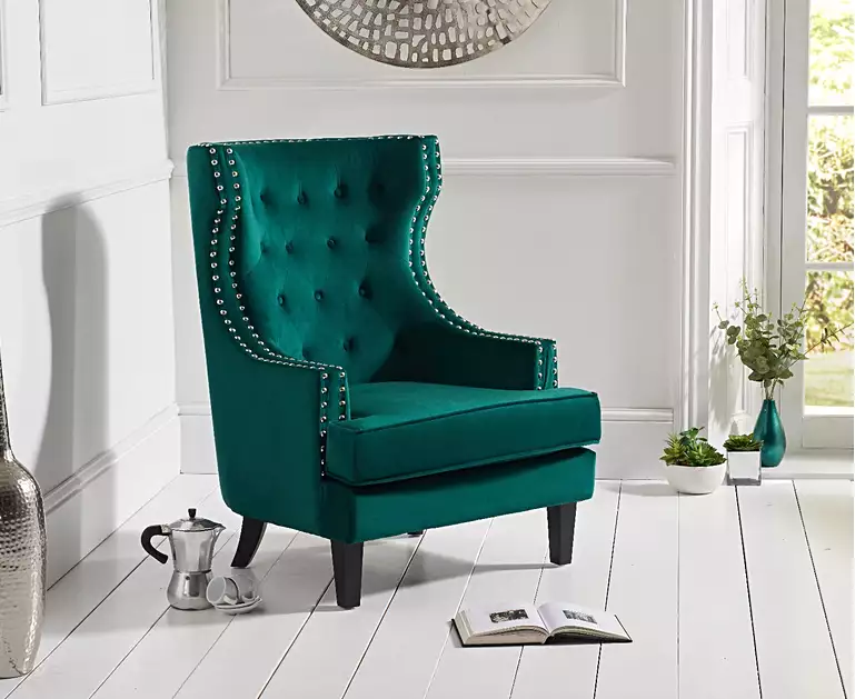 Best Penelope Green Velvet Accent Chair In 2020 Blue Velvet 400 x 300
