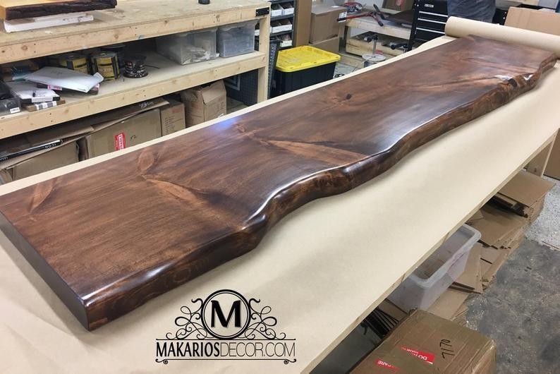 Table Modern Table Kitchen Table Wood Table Industrial Etsy Wood Slab Countertop Wood Slab Wood Slab Table