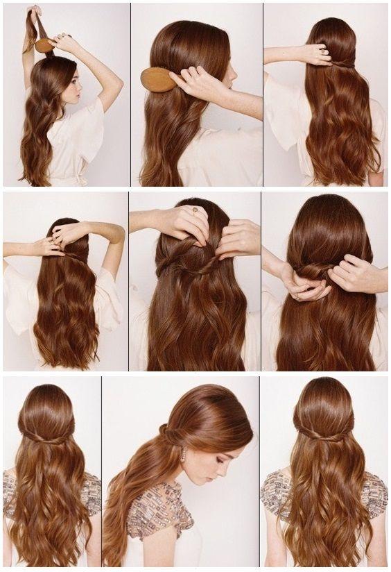 Half Up Half Down Hair Tutorial Beauty Tutorials Lazy Girl Hairstyles Easy Hairstyles Hair Styles