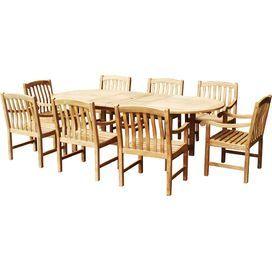 9-Piece Thompson Teak Dining Set