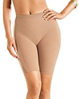 4776a7637c8d4 Leonisa Women s Invisible Seamless Rear Lift Tummy and Thigh Shaper ...