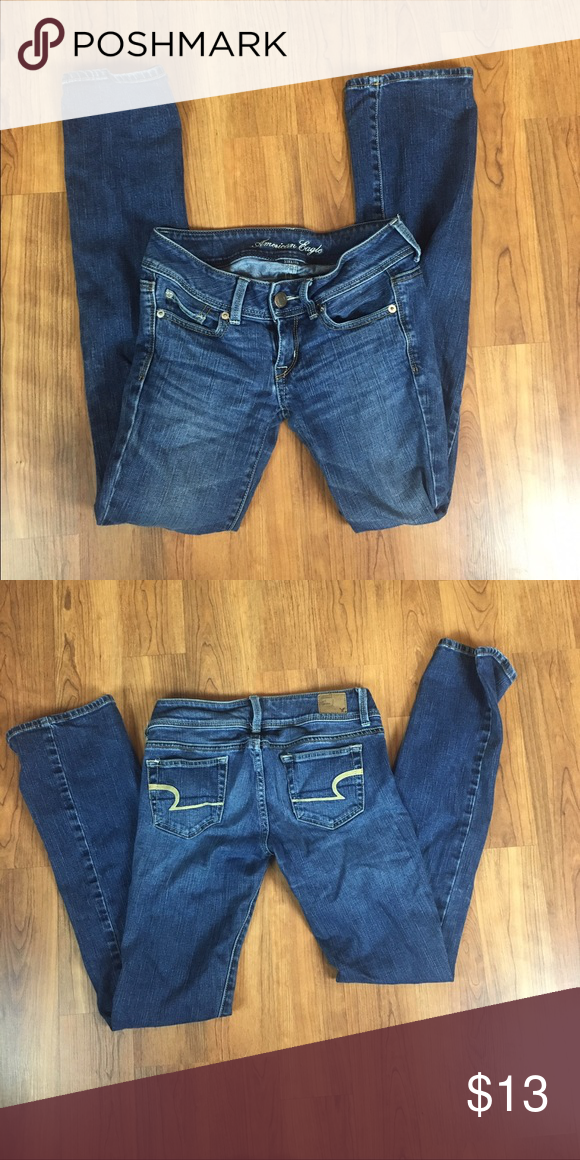 American eagle jeans Size 00 regular in the style slim boot. No holes and in good condition American Eagle Outfitters Jeans Boot Cut