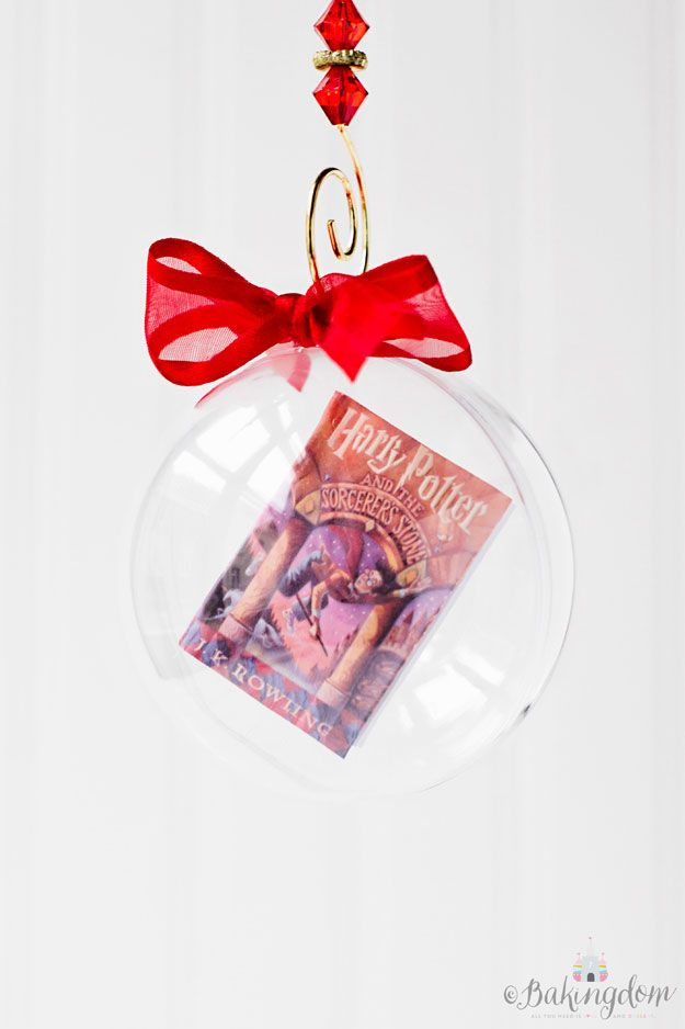 Harry Potter Floating Book Ornament Tutorial