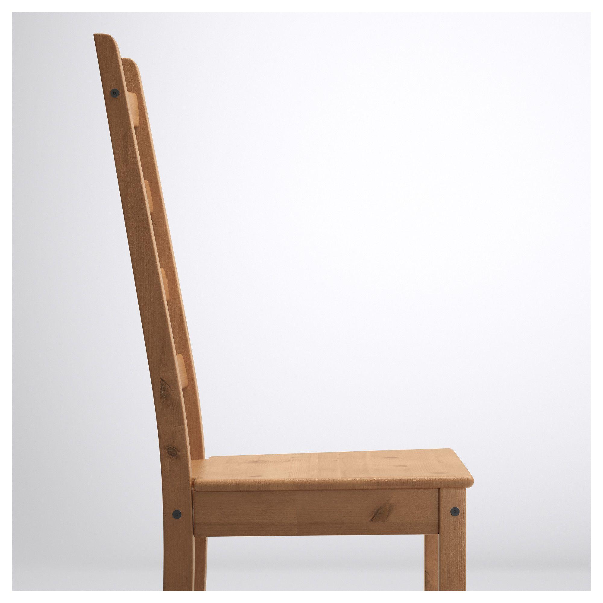 Ikea KAUSTBY Stuhl aus Massivholz; Antikbeize
