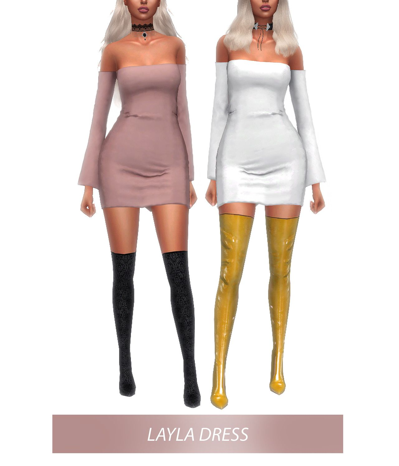 LAYLA DRESS 20 swatches Custom thumbnail All Lods DOWNLOAD + get ...