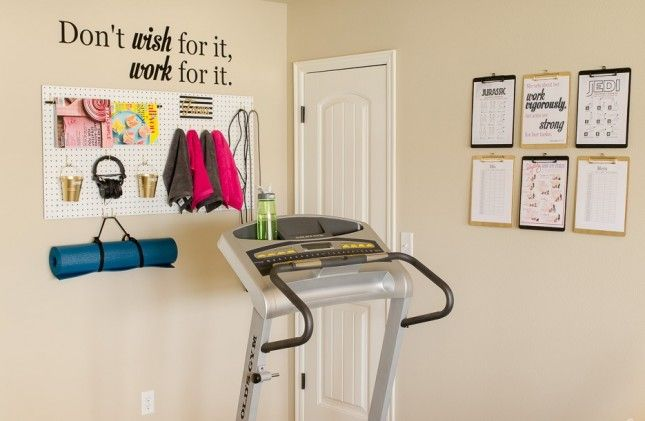 Set up a small home gym in an empty corner of your apartment