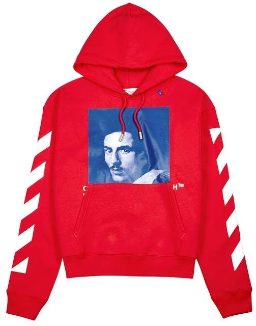6fd59dc1 Off-White Off White Bernini Red Logo Print Sweatshirt | Products ...