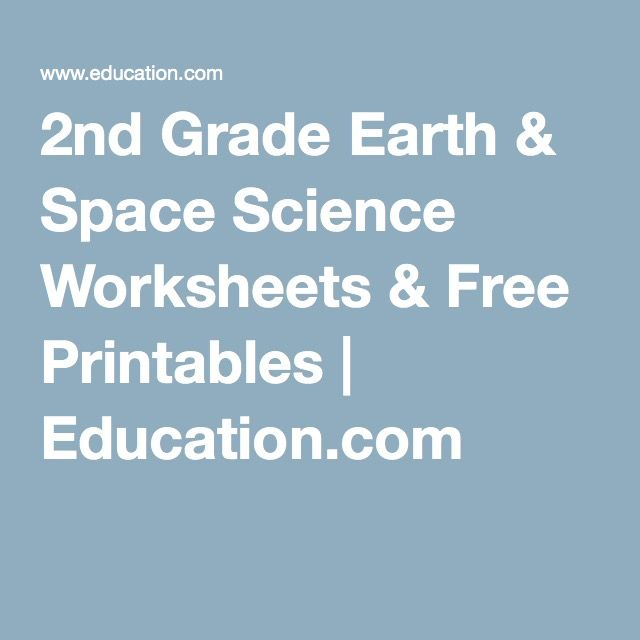 2nd Grade Earth & Space Science Worksheets & Free Printables ...