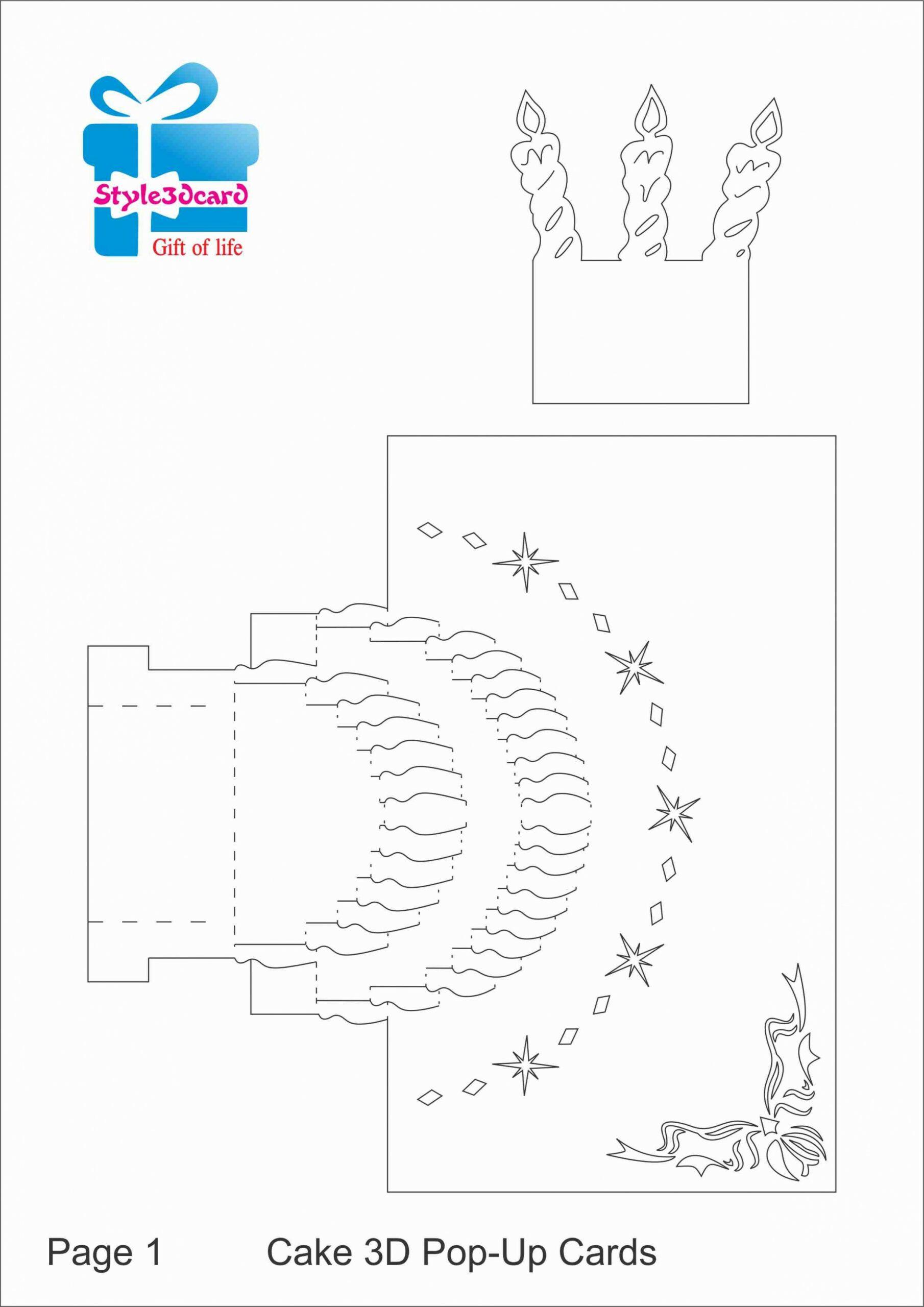 11 Design Pop Up Happy Birthday Card Template August 28