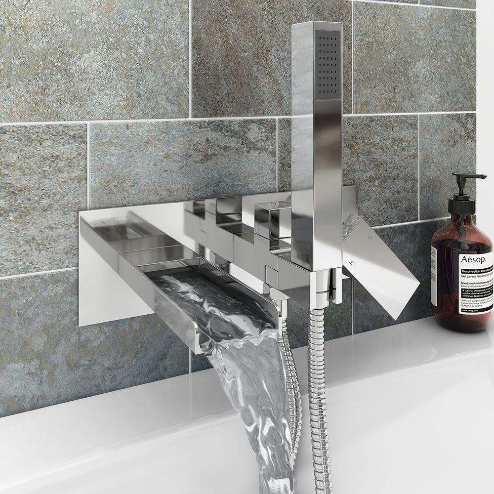 Monza Wall Mounted Bath Shower Mixer Tap Shower Kit Victorian Plumbing Uk In 2020 Bath Shower Mixer Bath Shower Mixer Taps Shower Mixer Taps