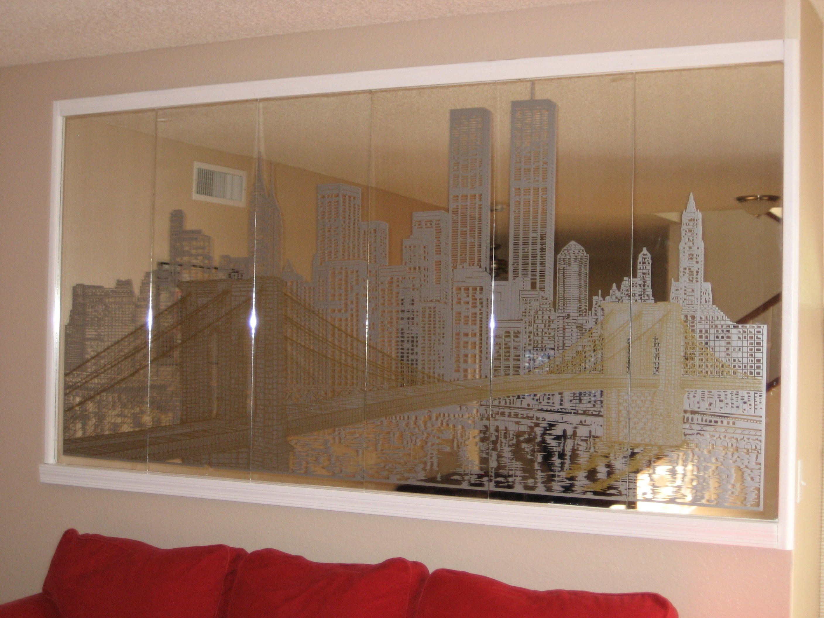 Mirror New York Large Etched Of Skyline Found In Swantutorial Blue39s Chinese 3d Modular Origami Swan Diagram Home That Was Built