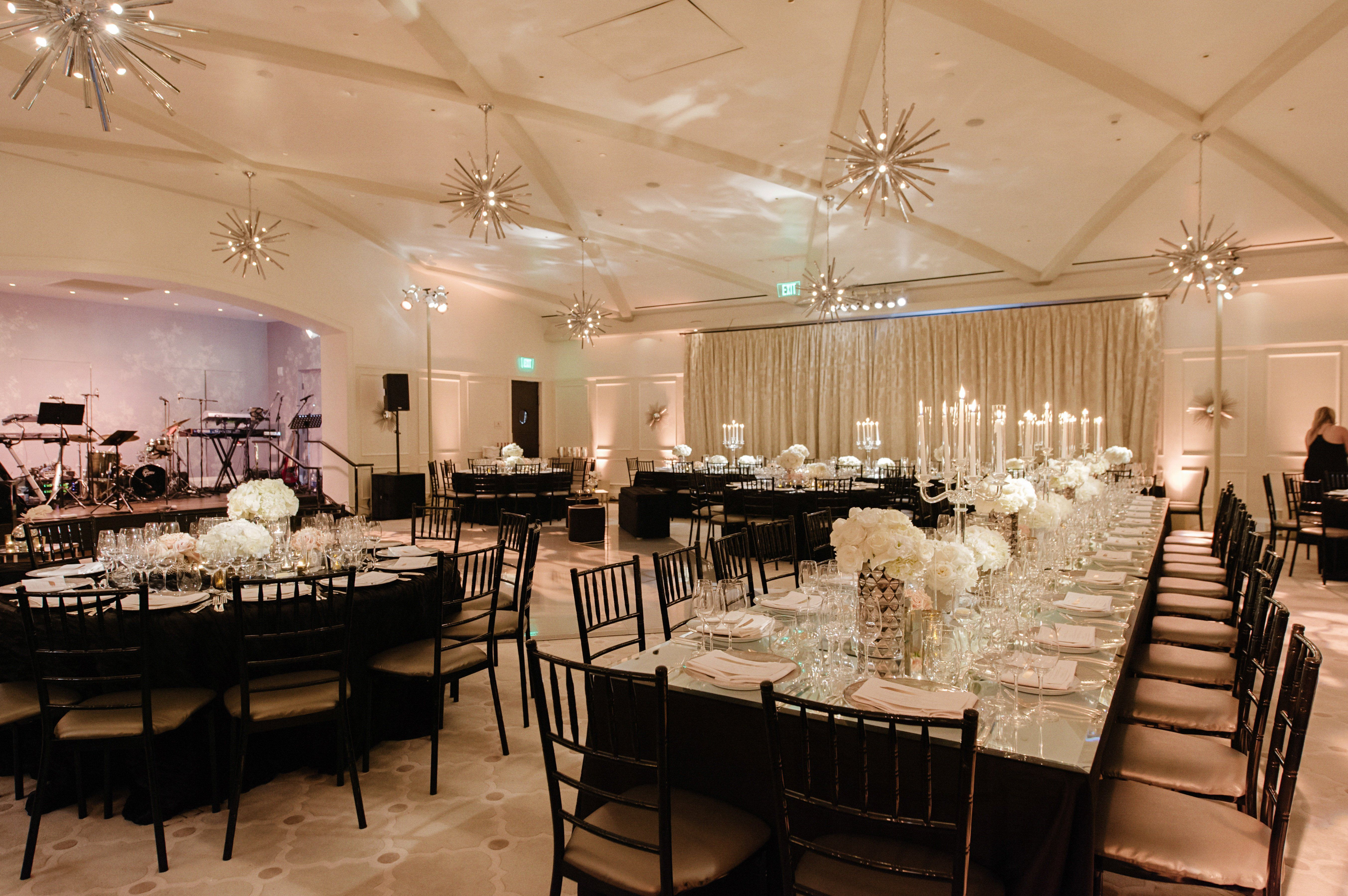 a black white chic wedding at hotel bel air in los angeles california - Black Hotel Decoration