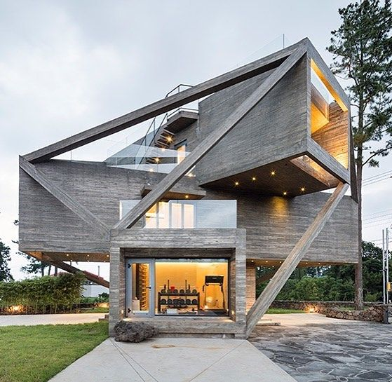 Geometric House | Simple house design, Architecture ...