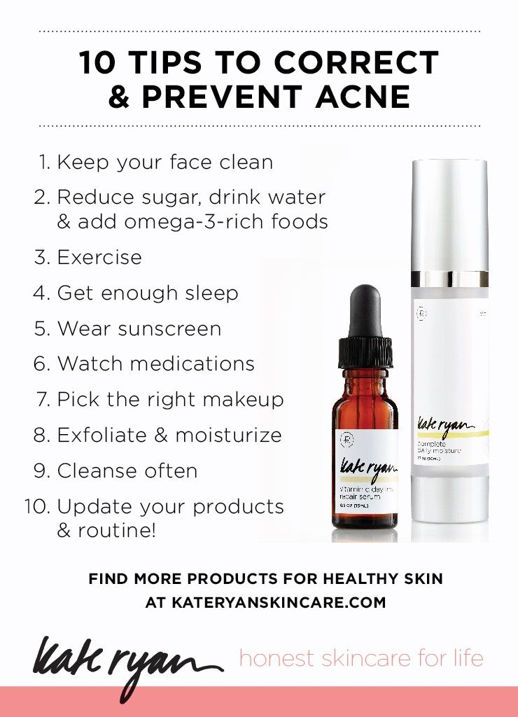 Top 10 Natural Skincare Tips To Correct And Prevent Acne Kate