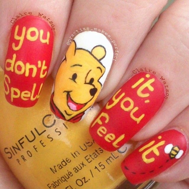Practisemakesperfect Pooh Nail Nails Nailart Favorite Nail