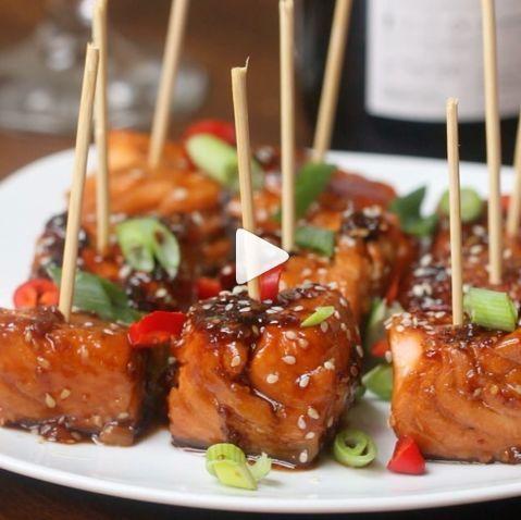 Recipes Easy Teriyaki Salmon Bites