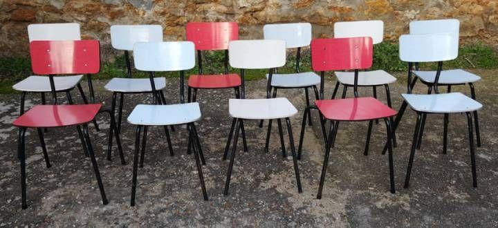 Lot de 5 chaises scandinaves. Les Vieilles Choses