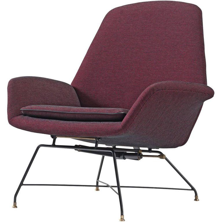 Augusto bozzi newly upholstered purple adjustable easy