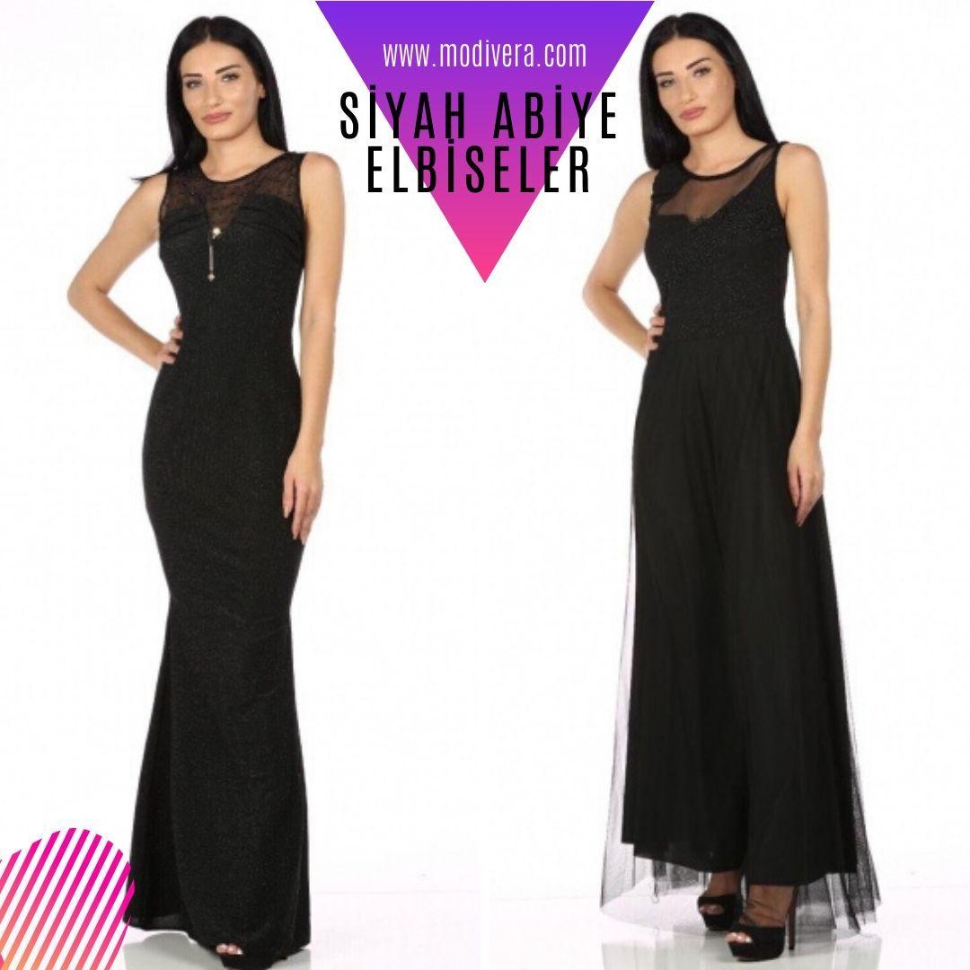 Siyah Abiye Elbise Ucuz Giyim Www Modivera Com Da 2020 Elbiseler Siyah Abiye The Dress