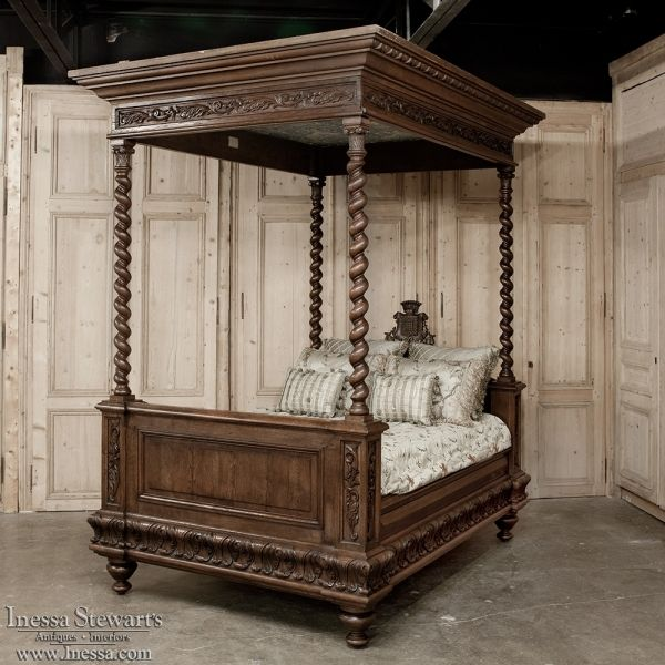 Antique Bedroom Furniture Beds Old world Ornate carved wood