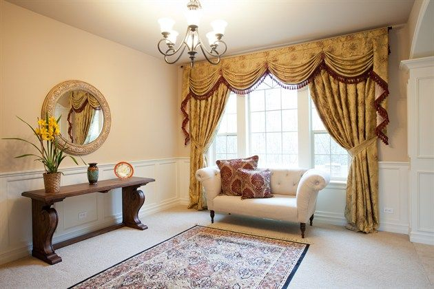 Celuce. Versailles Rose swag valances curtain drapes. Custom designer curtains at ready made price