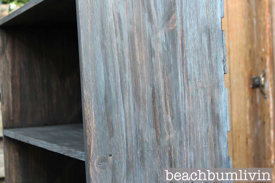 Layered Stain To Match Weathered Fence Posts Dark Brown