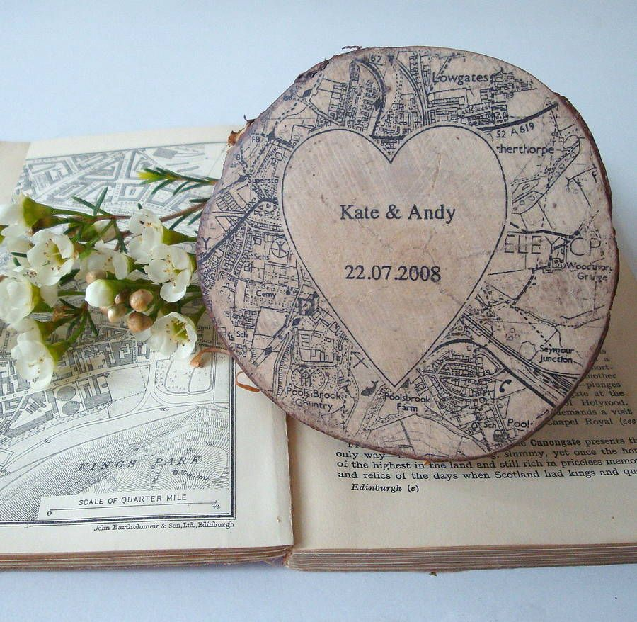 personalised names and map keepsake by northern logic