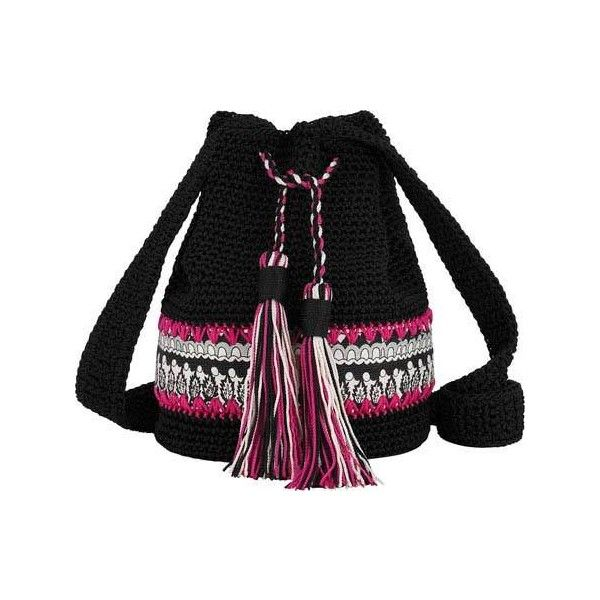 Women's Sakroots Artist Circle Crochet Drawstring Small Handbags ($49) ❤ liked on Polyvore featuring bags, handbags, handbags purses, tassel purse, crochet pattern purse, drawstring purse and hand bags