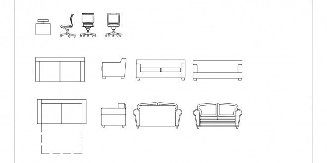 Free Cad Blocks Furniture 01 Autocad Cad Blocks