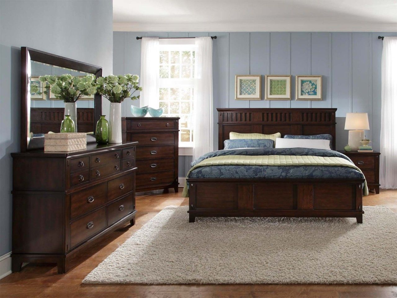 Standard Furniture Sonoma Panel Bedroom Set In Dark Brown 86600