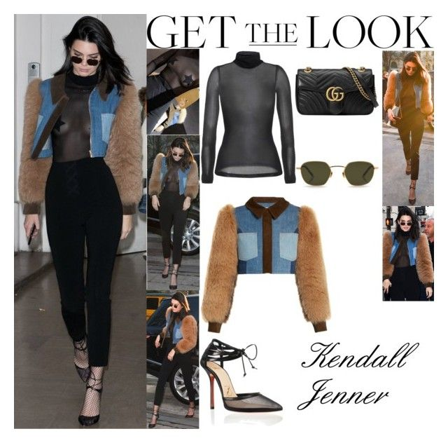 """""""Kendall Jenner Paris, France January 21, 2017"""" by valenlss ❤ liked on Polyvore featuring Wolford, Sonia Rykiel and Gucci"""