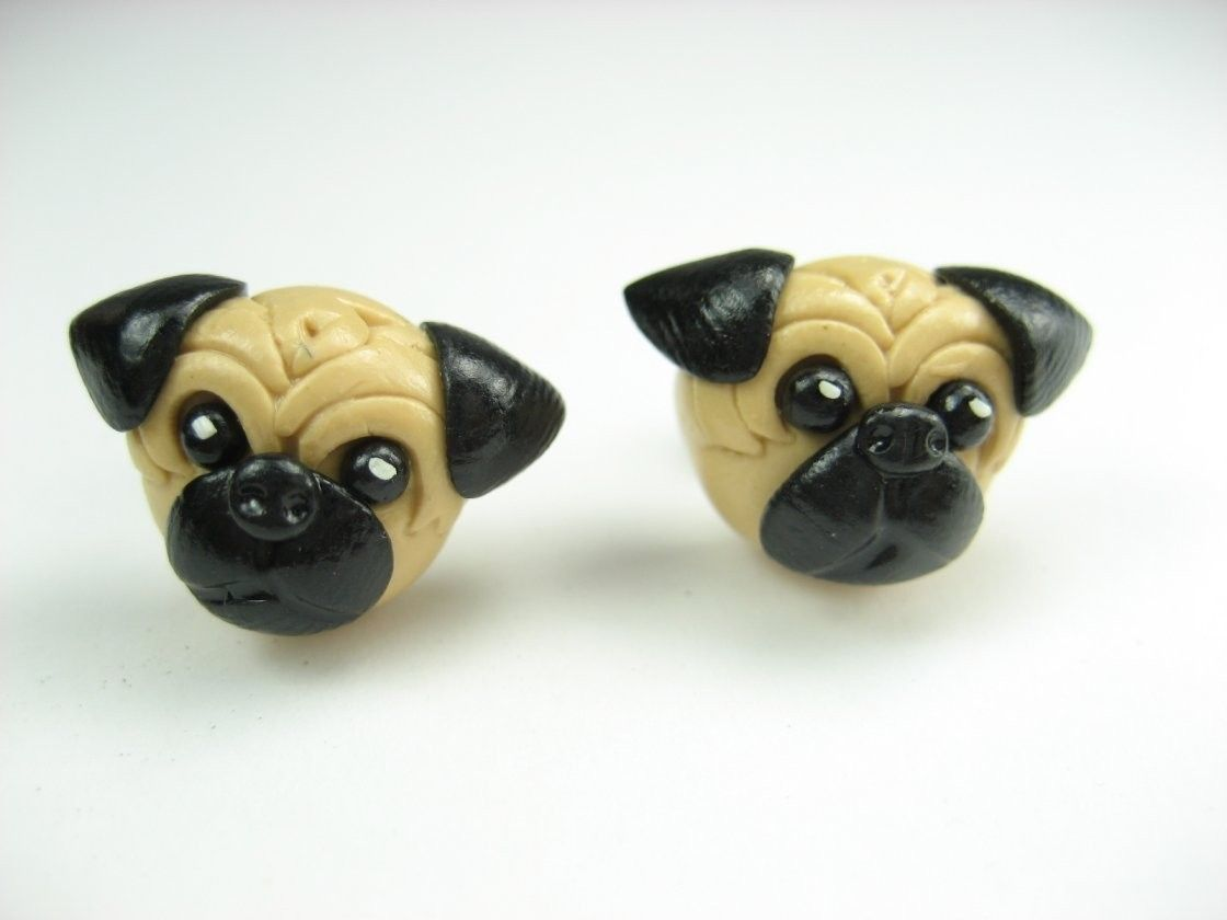 Little Pug Earrings by beadpassion on Etsy, $10.00 my girls would love these!
