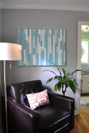diy canvas art for living room led light bar how to make a simple geometric painting pinterest love sherry s i plan on using green or orange color theme go with my scheme