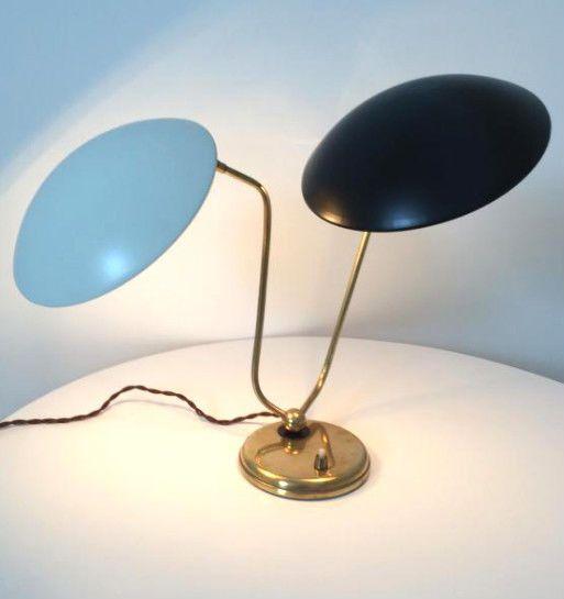 Lampe Italienne Double Vintage Stilnovo 1950 Mid Century Lamp 50er 60er Luminaire Lamp Lampe
